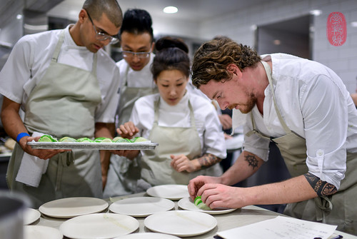 Kobe Desramaults plating.