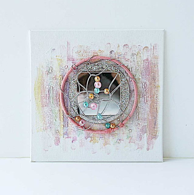 Dream-catcher-mixed-media-canvas