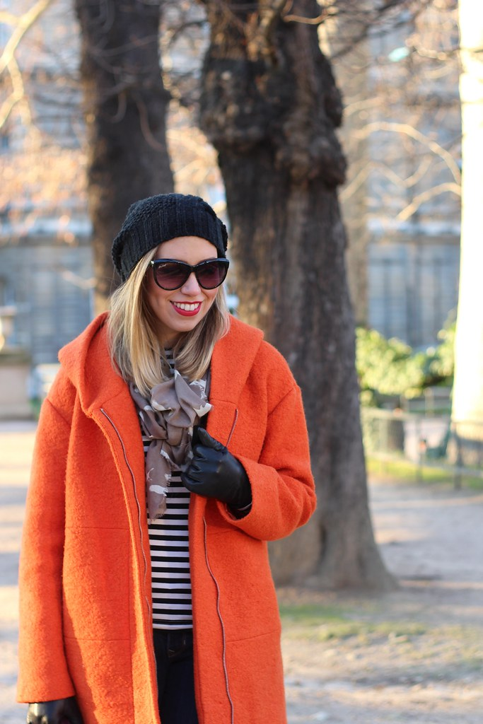 Stripes in Paris | Winter Outfit | #LivingAfterMidnite