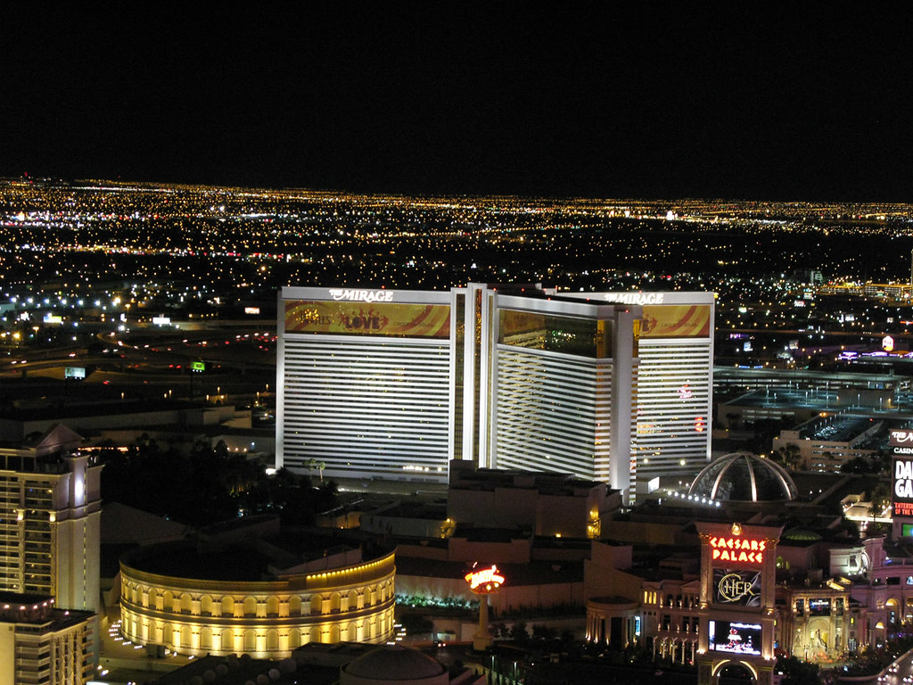 View of the Strip from the Paris Eiffel Tower Experience