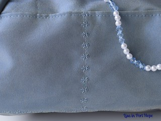 tammy bag pocket topstitching detail