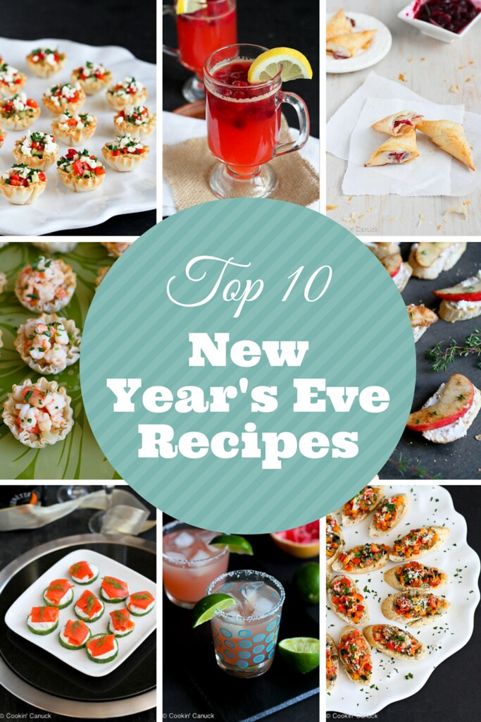 Top 10 Lightened-Up New Year's Eve Cocktail and Appetizer Recipes | cookincanuck.com