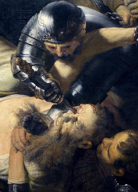 Rembrandt, Die Blendung Simsons, Detail (The Blinding of Samson, detail)