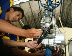machine, auto mechanic, mechanic, engine, person,