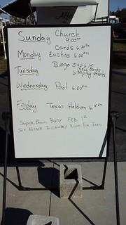 The schedule at Tamiami Village RV Park
