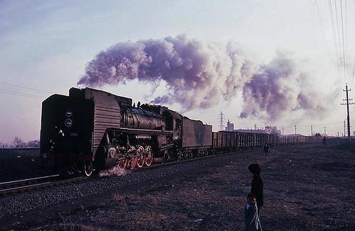 china train transport engine rail railway steam transportation locomotive changchun freight datong qj 2102