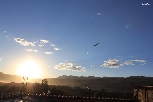 sunset peru azul atardecer cusco paisaje lan cielo takeoff avion vuelo despegue kuntur fernandolecaros
