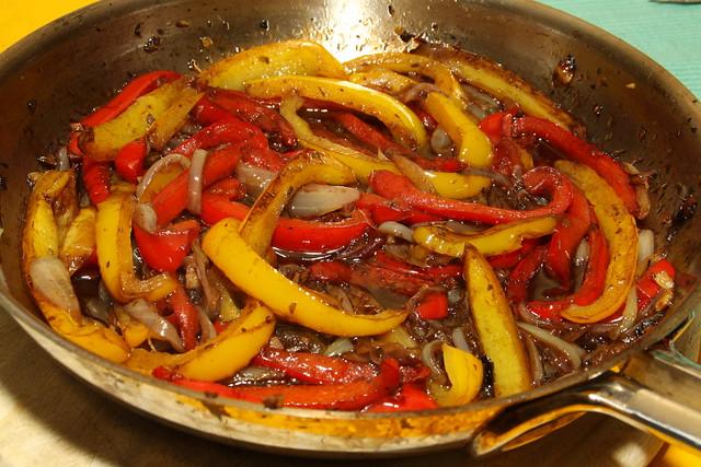 Gestoofde paprika met balsamicoazijn...