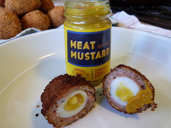 scotch eggs et moutarde