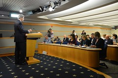 U.S. Secretary of State John Kerry delivers remarks on World Press Freedom during the top of the Daily Press Briefing at the U.S. Department of State in Washington, D.C., on May 3, 2016. [State Department Photo/Public Domain]