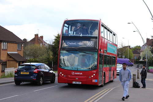 Arriva London T184 on Route 368, Chadwell Heath Station