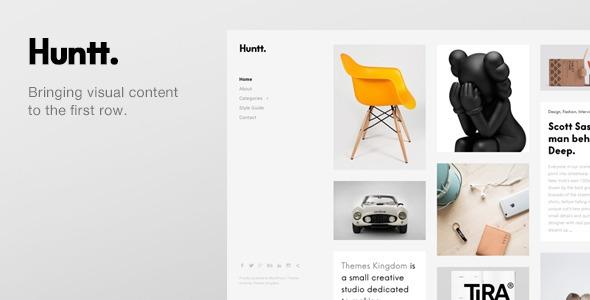 Huntt v1.3.1 - Personal Blog / Portfolio WordPress Theme