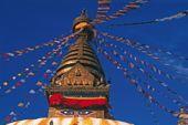 Kathmandu, Supa von Bodanath mit den alles sehenden Augen Buddhas. Foto: Günther Härter.