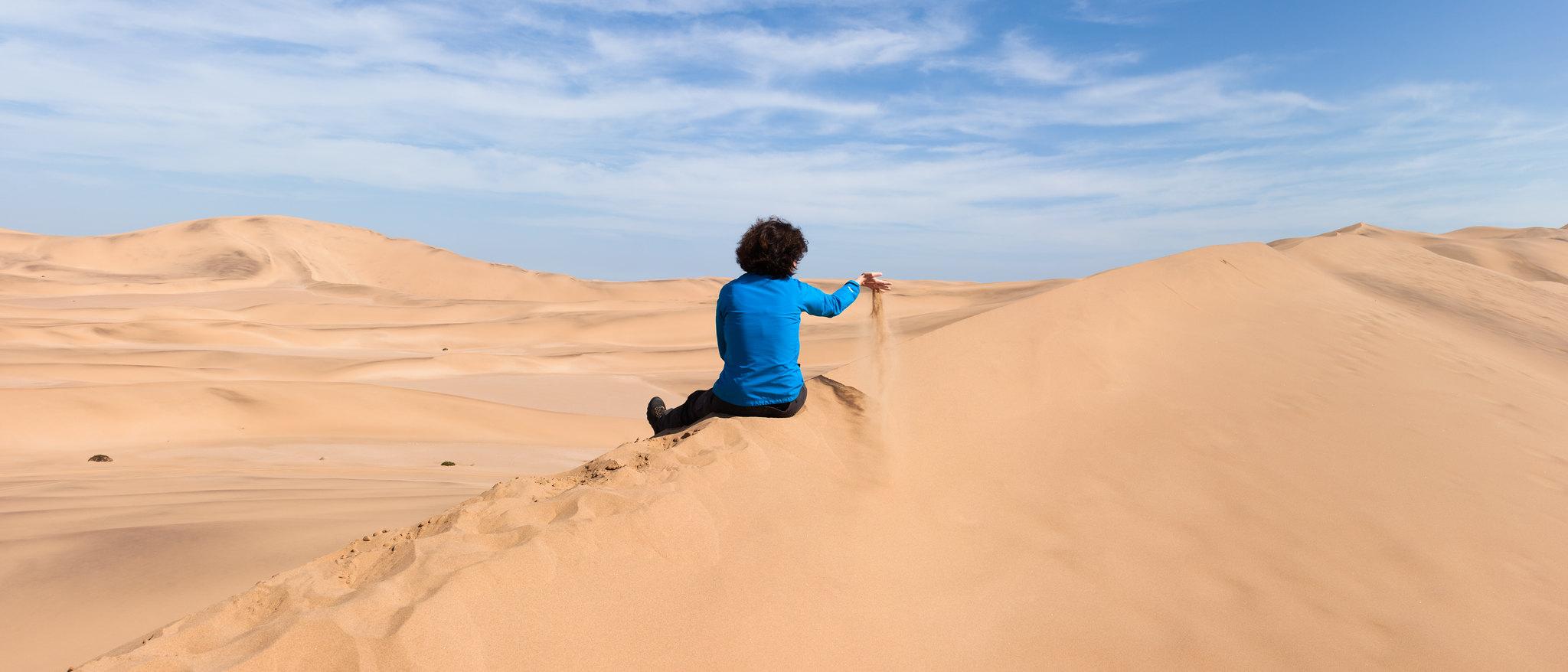 Auf den Dünen bei Swakopmund
