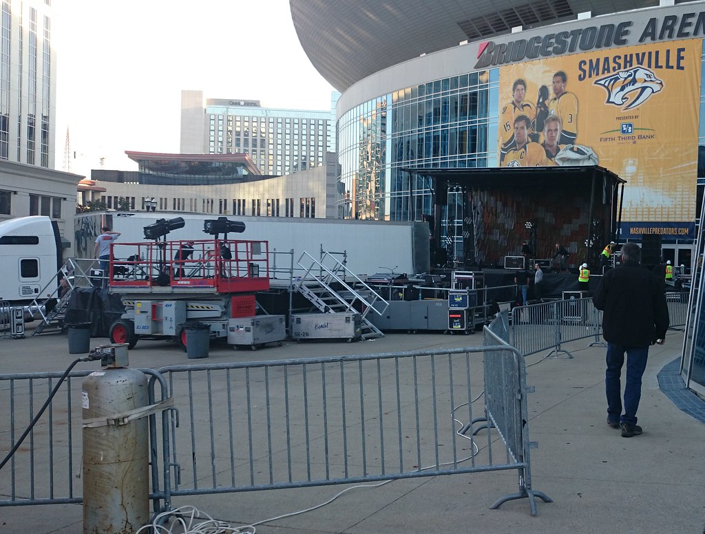 The stage outside the Bridgestone