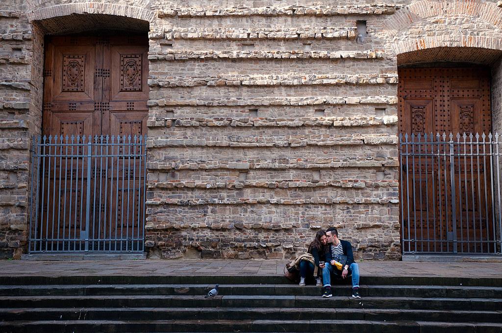 Couple Taking Selfie in Firenze