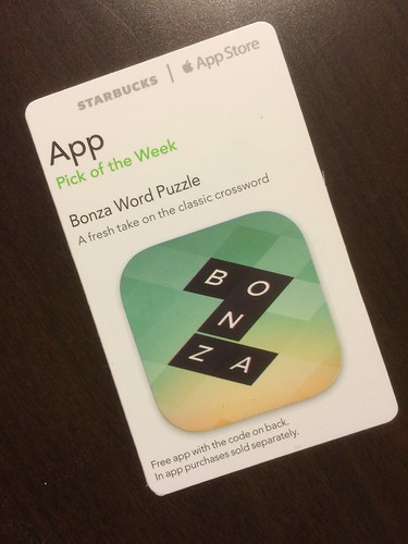 Starbucks iTunes Pick of the Week - Bonza Word Puzzle