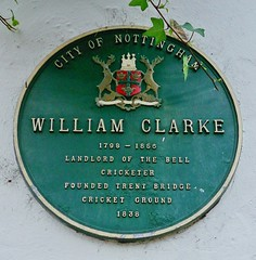 Photo of William Clarke green plaque