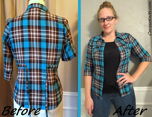 Plaid Shirt - Before & After