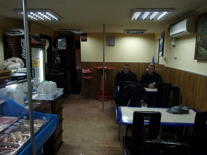 Inside a typical kebab shop