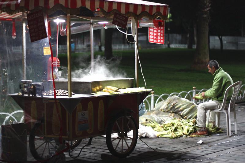 corn push stand