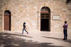Girls at the  Greek Orthodox Basilica of Saint George // Trip to Jordan