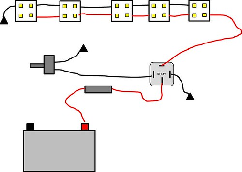 Wiring Diagram For Led Work Lights : Diy led rock lights wiring jeepforum