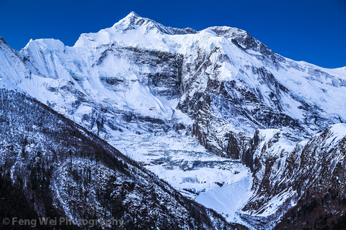 travel nepal mountain snow color beautiful horizontal amazing asia view outdoor scenic vista remote annapurnacircuit annapurna himalayas pisang gandaki upperpisang annapurnaii annapurnaconservationarea