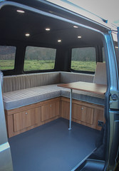 Campervan seating with table