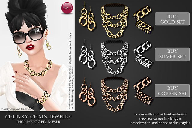 Chunky Chain Jewelry (for Uber)