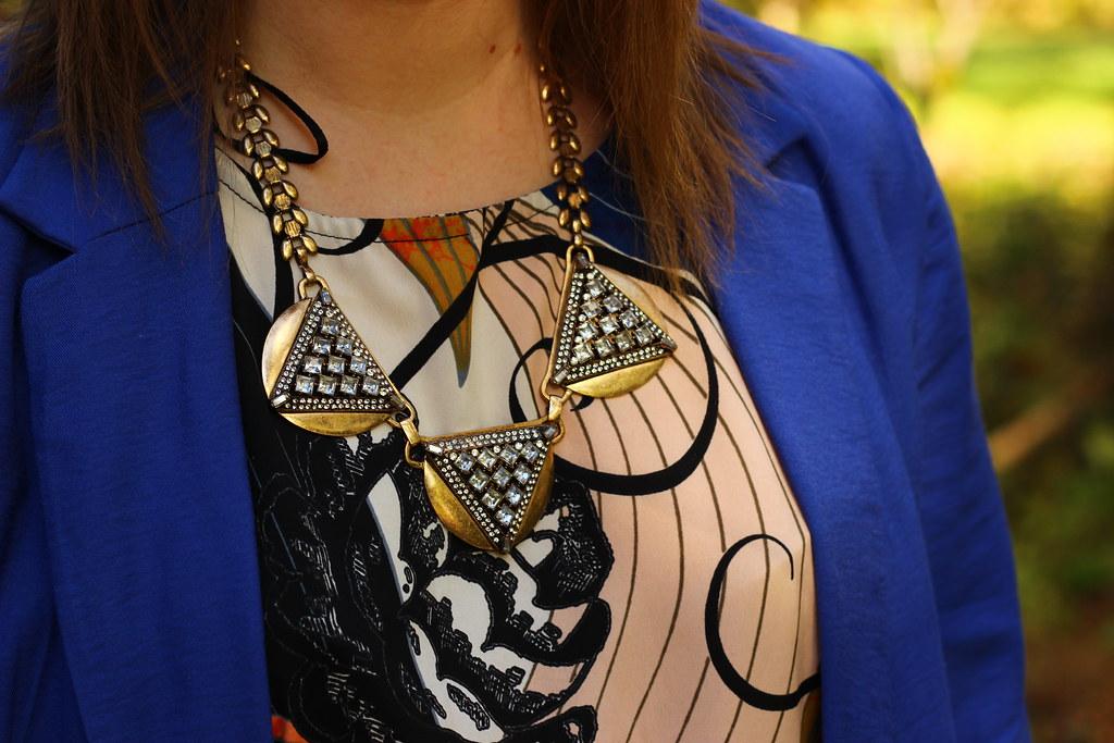 print dress_blue blazer 3