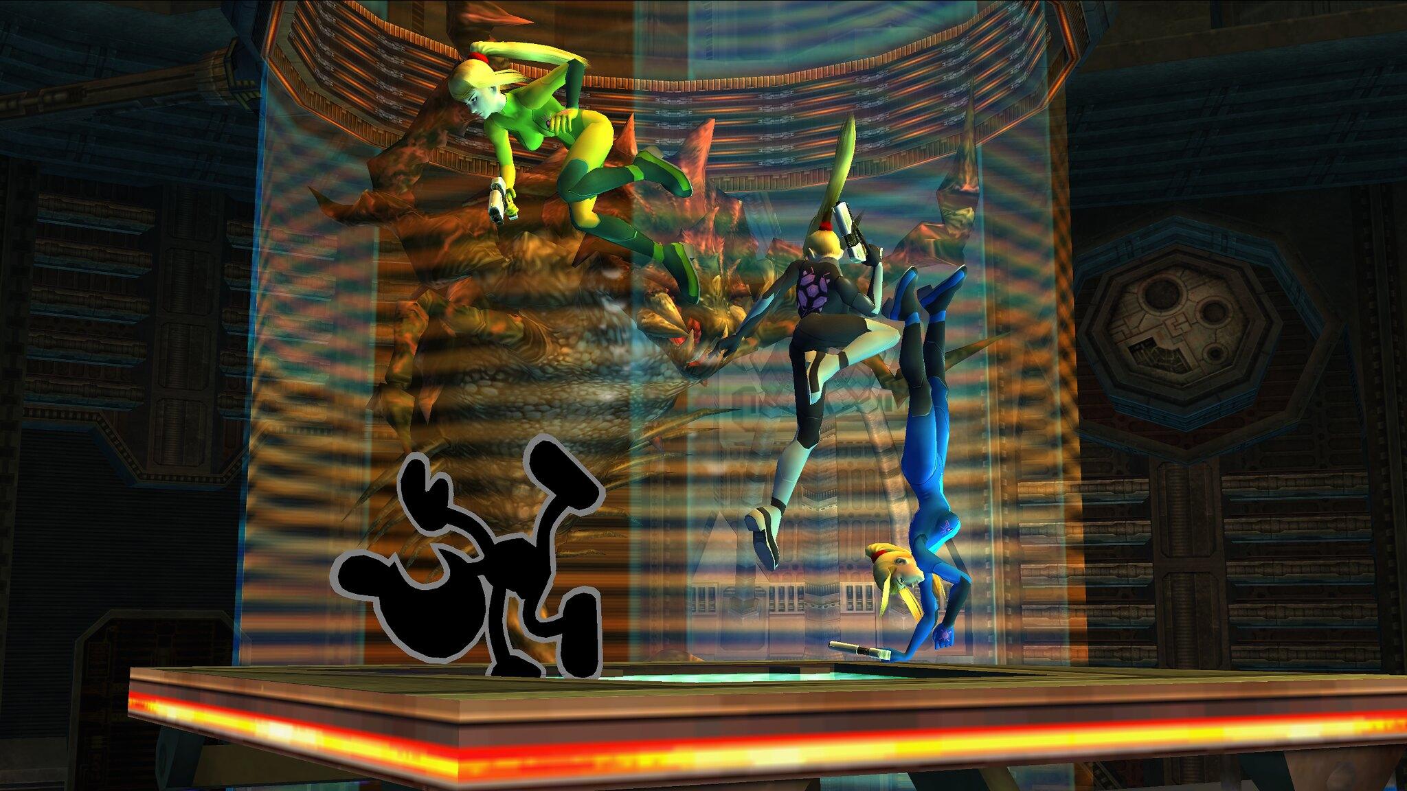 Super Smash Bros Brawl Zero Suit Samus Assualt Hd Wallpaper
