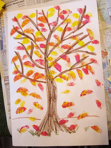 Color Mixing Fall Trees