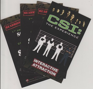 CSI Interactive show Las Vegas Tickets