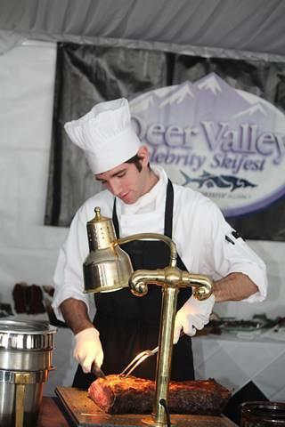 Deer Valley food at Celeb Ski fest