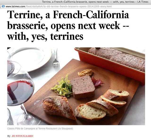 My L.A. Times piece on Terrine