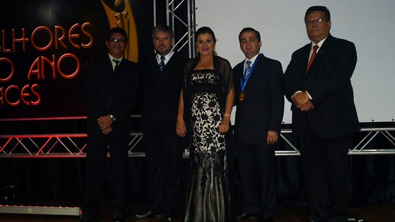 Os homenageados; Juracy Nere, Alexandre Chves, Gilma Bechara Rêgo, Olavo Neves e Roberto Vinholte