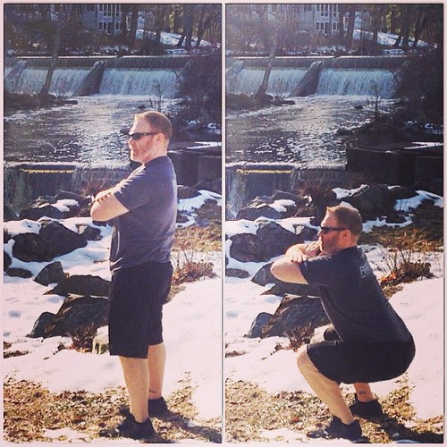 Day 11: #Spartan30 #squat Challenge!  Was out for a run and thought the waterfall would be a good background for today's squats!  Arms crossed air squats x 30...GO!   #coachcambio #spartanup #spartansgx #spartanrace #spartanracing #spartancoaches #spartan