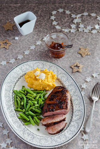Orange Marmalade Glazed Duck Breasts with Parsnip Pumpkin Truffle Butter Mash-0194
