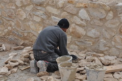 archaeology, wall, soil, rubble, temple, geology, bricklayer, rock,