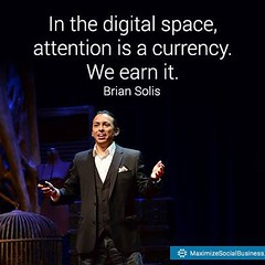 Attention is a currency