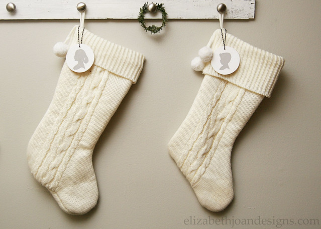 Silhouette Stocking Decor