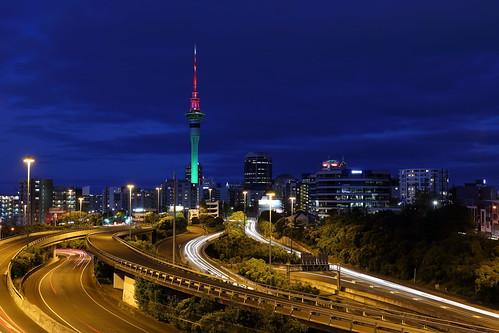 longexposure newzealand architecture landscape cityscape auckland nz bluehour