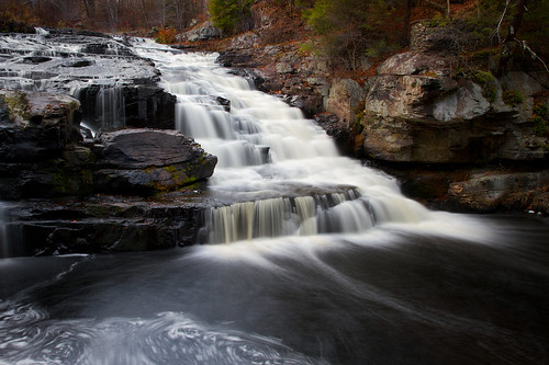 longexposure november cliff fall nature water landscape evening waterfall rocks pennsylvania falls shohola
