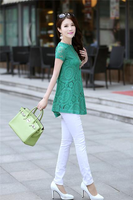 萬花筒綠色洋裝2