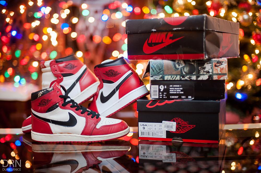 1985, 1994, & 2013 Air Jordan I's.