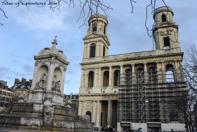PARIS - Place Saint-Sulpice - Fontaine Saint-Sulpice / Église Saint-Sulpice