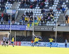 Segundo gol del Cádiz. Celebración