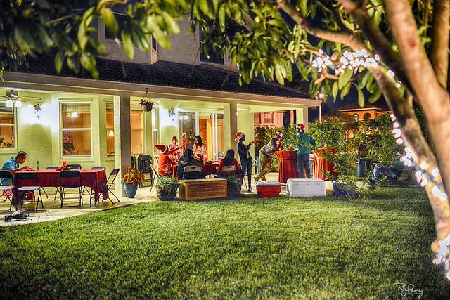 "Backyard Christmas Gatherin"""
