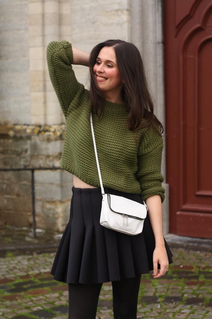 Sweater Over Skater Dress 9